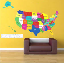 wall decals murals sewuka co unites states map wall mural decalwall decor decal sticker removable vinyl headboard contemporary decals murals