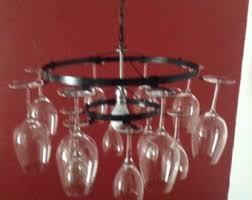 Chandelier Wine Glass Wine Bottle Chandelier Wine Rack Light Lighting Wine Decor