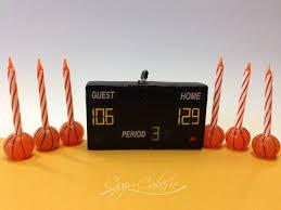 basketball cake topper basketball cake topper candle set