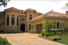 3 mediterranean one story stucco homes spanish style house
