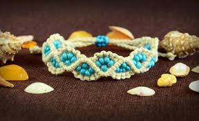 macrame bracelet tutorials images Beach inspired beaded macrame bracelet jpg