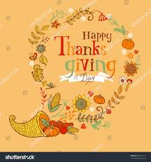 thanksgiving poster greeting card traditional stock vector