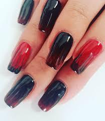 nail art phenomenal rednd black nailrt image inspirations designs