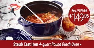 staub black friday shop staub cookware on sale cutlery and more