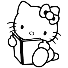 kitty book cartoon decal vinyl removable decorative