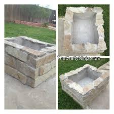 diy stone fire pit the crafty ninja