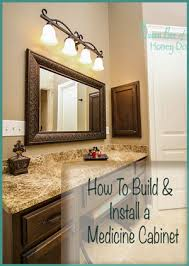 How To Make Bathroom Cabinets - how to make and install a medicine cabinet u2022 queen bee of honey dos
