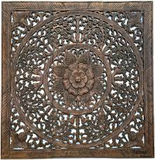 Home Decor Bali Elegant Wood Carved Wall Plaque Floral Wood Wall Panels U2013 Asiana