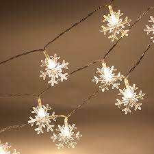 decorative lights for tree room decor snowflake shaped