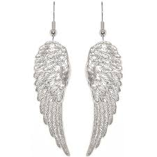nickel free earrings nickel free 1 7 8 angel wings earrings quality made in usa