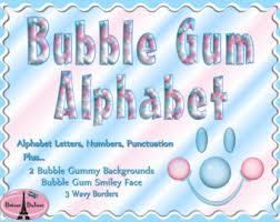 bubble letters etsy