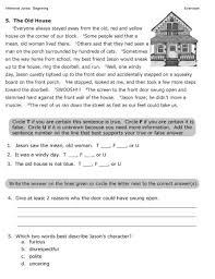 reading inferences worksheets worksheets