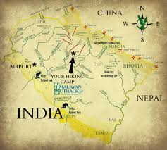 Himalayan Mts Map Map Of Your India Himalayan Hike