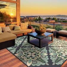 10x10 Outdoor Rug Stylehaven Medallion Blue Green Indoor Outdoor Area Rug 7 U002710x10
