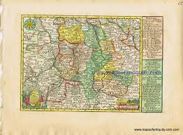 Darmstadt Germany Map by Antique Maps And Charts U2013 Original Vintage Rare Historical