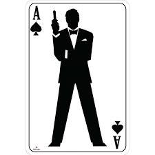 ace of spades bond silhouette card cardboard cutout bond