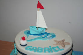 decoration theme mer gateau thème marin pour le bapteme de gabriel la manie des gateaux