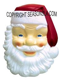 plastic light up santa face illuminated outdoor plastic christmas