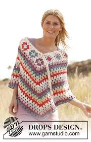 drops design poncho summer of 69 drops 139 1 free crochet patterns by drops design