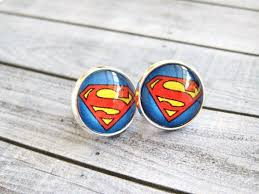 superman earrings superman earrings glass cabochon earrings on etsy 0 20 buy