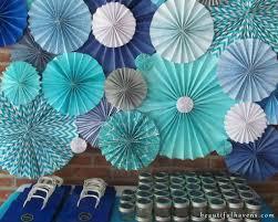paper fan decorations something blue bridal shower paper fan backdrop diy sugar scrub