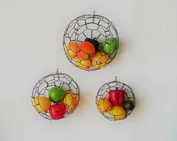 wall fruit basket hanging wire baskets wire basket fruit basket sphere