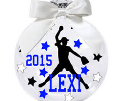 softball ornament etsy