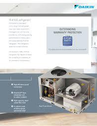 10 ton daikin heat pump package unit central air system 208 230v