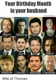 Meme Wiki - your birthday month is your husband ig imadirewolf ung april january
