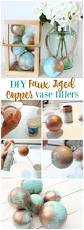Home Decor Balls Diy Faux Aged Copper Vase Fillers Simple Diy Decor Crafts And