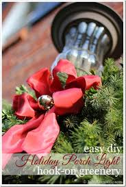 Decorate Outside Entryway Christmas by Diy Christmas Porch Light Decoration In My Own Style