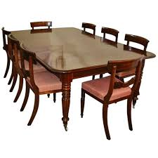 Regency Dining Table And Chairs Antique Regency Dining Table C 1820 And 8 Vintage Chairs At 1stdibs