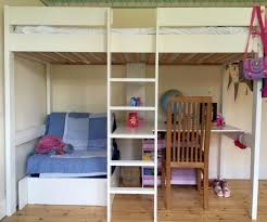 Wooden Loft Bed Diy by Diy Loft Bed With Desk And Storage Bunk Bed With Table Underneath