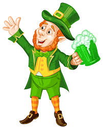 st patrick day leprechaun with green beer transparent png picture