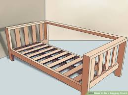 Sofa Under Cushion Support How To Fix A Sagging Couch 14 Steps With Pictures Wikihow