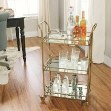 One Room Gold Cole 3 Tier Rolling Bar Cart World Market
