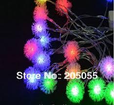 aliexpress com buy 10m 60 led furry ball rgb edelweiss snowflake
