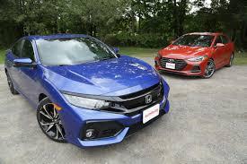 honda civic hyundai elantra 2018 honda civic si vs hyundai elantra sport autoguide com