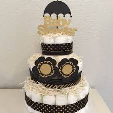 black and gold baby shower candy buffet by platinumdiapercakes