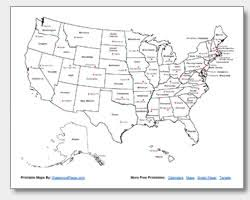 united states map with states and capitals and major cities us map with state capitals geography worksheet teachervision us