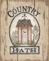 country bath outhouse by linda spivey art print framed