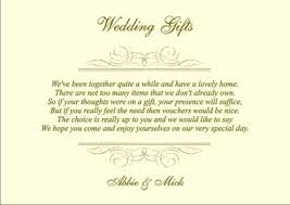 wedding gift lists wedding gift list poem for honeymoon lading for