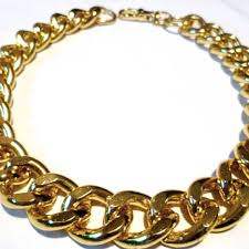 gold chunky necklace images Ultra bold chunky gold necklace chunky jewelry long chunky etsy jpg