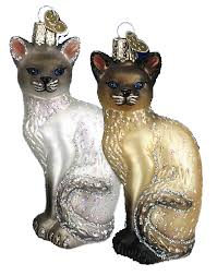 world ornaments siamese cat 12243