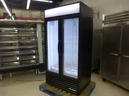 new true gdm 35f ld glass 2 door led freezer frozen ice cream