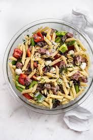 cold pasta dish easy italian pasta salad recipe salt lavender