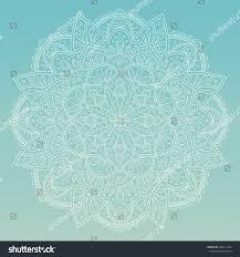 hand drawn mandala design perfect backgrounds stock vector