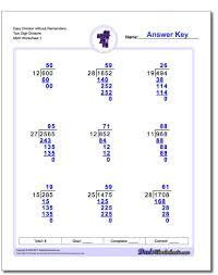 4th Grade Math Worksheets With Answers Long Division Worksheets