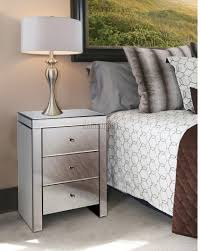Mirrored Furniture In Bedroom Foxhunter Mirrored Furniture Glass Bedside Cabinet Table With