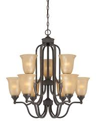 Jeremiah Lighting Chandeliers Jeremiah Lighting 28729 Edgefield Two Tier 9 Light Chandelier